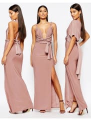 MissguidedSlinky Multiway Maxi Dress - Nude