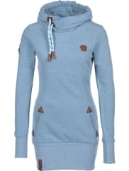 NaketanoLange Ix W hoodie blauw flecked