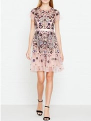Needle & ThreadEnchanted Lace Embellished Dress - Pink, Size 10