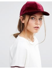 New LookCappellino in velluto - Rosso