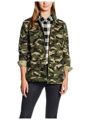 New LookDamen Jacke Camo Military Shacket