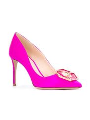 Nicholas Kirkwood85mm jewel Eden pumps, Womens, Size: 38.5, Pink/Purple