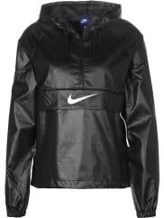 NikePackable Swoosh W Chaqueta con capucha negro blanco