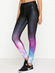 NikeSportswear Swirl Print Legging - Black/pink, Size Xl