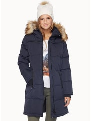 NoizeSolid long quilted parka