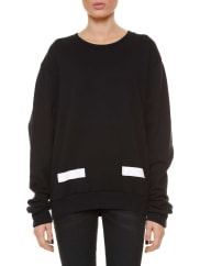 Off-whiteArrows printed sweater, size S, Nero