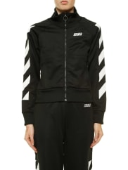 Off-whiteFelpa con zip sporty off, size M, Nero