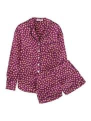 Olivia Von HalleAlba Printed Silk-satin Pajama Set - Plum