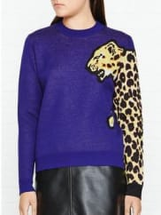 Paul SmithLeopard Jumper - Purple, Size Xl