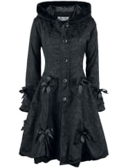 Poizen IndustriesAlice Rose Coat Girl-Mantel schwarz
