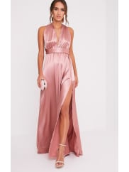 Pretty Little ThingMiranda Rose Silky Multiway Maxi, Rose