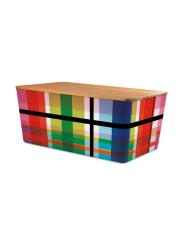RememberBrotbox mit Bambusdeckel ZigZag
