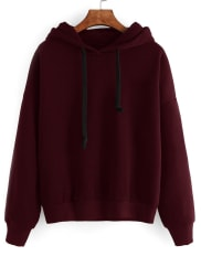 SammydressDrawstring Loose Fitted Long Sleeve Hoodie