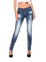 Salsa JeansJeans Crystal en denim bicolore avec déchirures