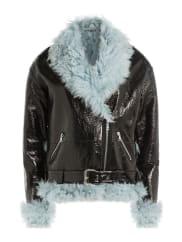 Sandy LiangBikerjacke Bowery aus Leder mit Shearling-Details