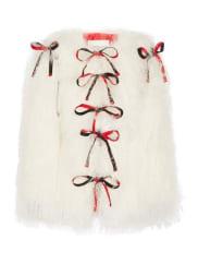 Sandy LiangLambeaux Wandelbarer Shearling-mantel - Elfenbein