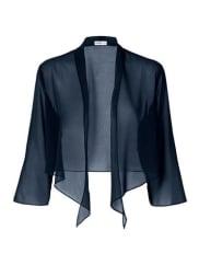 Sheego StyleBolero aus Chiffon blau