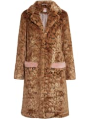 ShrimpsClaude Mantel aus Faux Fur mit Leopardenprint