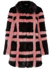 ShrimpsEdith karierter Mantel aus Faux Fur