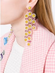 Simone Rochachandelier earrings, Womens, pink/purple