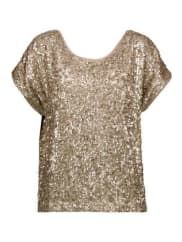Tart CollectionsFarrah Sequined Georgette Top - Gold