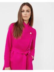Ted BakerLong wrap coat Bright Pink