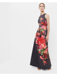 Ted BakerJuxtapose Rose maxi dress Black