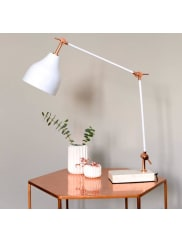The Forest & Co.Stone And Copper Angled Desk Lamp