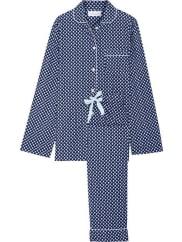 Three J NYCJamie Printed Cotton-poplin Pajama Set - Navy