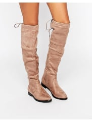 TruffleOver The Knee Flat Boots - Taupe mf