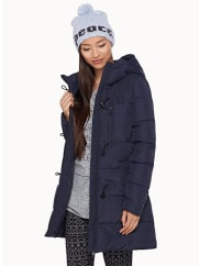 TwikDown and feather ¾ quilted duffle coat