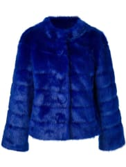 Twin-Setfaux fur jacket, Womens, Size: Medium, Blue