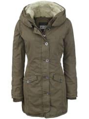 Urban ClassicsLadies Garment Washed Long Parka Girl-Winter-Jacke oliv