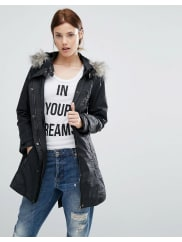 Urban CodeParka With Faux Fur Lined Hood
