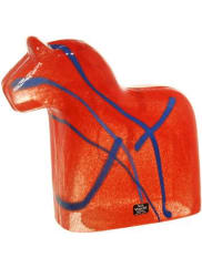Vas VitreumDala Skulptur Röd Mikael Kenlind
