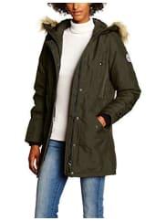 Vero ModaVMPOLAR ARCTIC 3/4 PARKA DNM A, Abrigo Mujer, Gris (Peat), 40 (Talla del fabricante: Large)