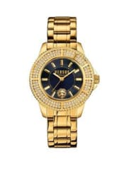 VersusVersus Versace Tokyo Crystal Gold Stainless Steel Blue Dial Ladies Watch