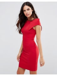 VesperRogue Pencil Dress - Red