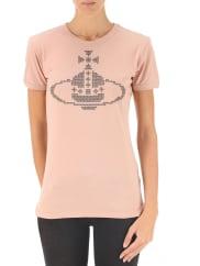 Vivienne WestwoodT-Shirt for Women On Sale, Pink, Cotton, 2016, 10 12 8