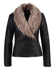WallisFaux leather jacket black