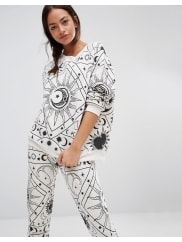 WildfoxMoon Astrology Pyjama Sweater - Alabaster grey