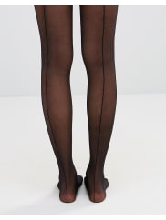 WolfordBack Seam Tights - Black