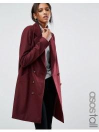 Asos TallCaban avec poches sur les coutures - Rouge