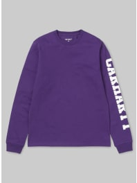Carhartt Work in ProgressL/S College Left T-Shirt / maglietta lilla
