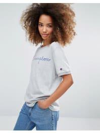 ChampionOversized T-Shirt With Script Logo - Filj/fil-lt-gry-mrl