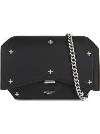 GivenchyBow-Cut Mini Leather Cross-Body Bag, Womens, Black