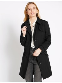 Marks and Spencer IrelandPETITE Belted Trench with Stormwear black