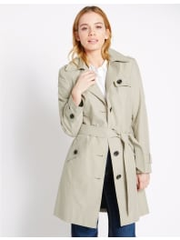 Marks and Spencer IrelandPETITE Belted Trench with Stormwear pebble