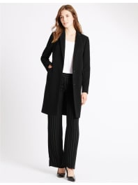 Marks and Spencer IrelandRevere Collar Coat black