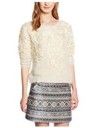 Molly BrackenF223A16, Suéter para Mujer, Beige (Offwhite), Talla Única